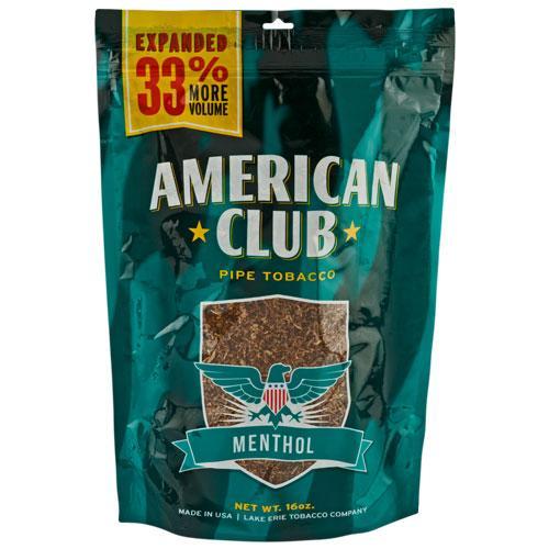 American Club Menthol Pipe Tobacco 16 oz. Pack