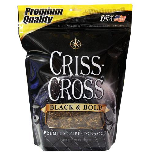 Criss Cross Pipe Tobacco Black & Bold 6 & 16 oz. Pack
