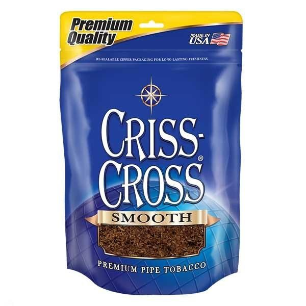 Criss Cross Pipe Tobacco Smooth Blend 6 & 16 oz. Pack
