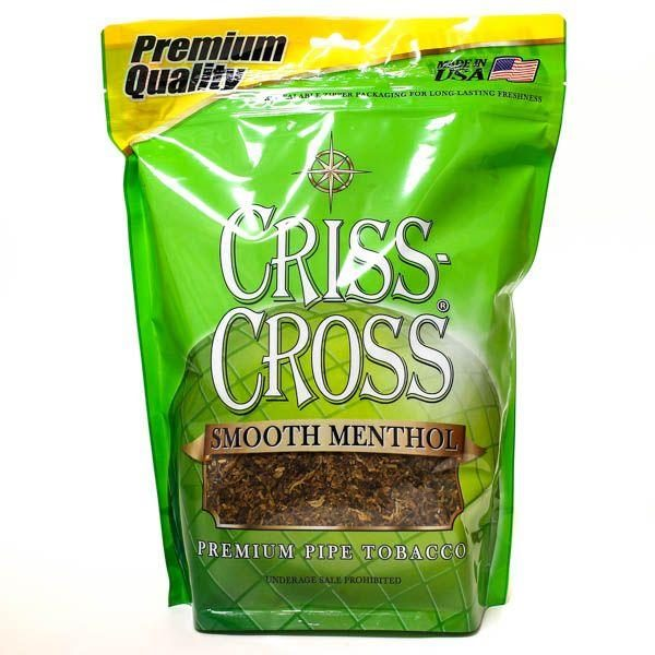 Criss Cross Pipe Tobacco Smooth Menthol 6 & 16 oz. Pack
