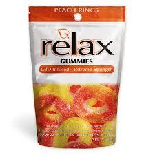 Relax Gummies Peach Rings
